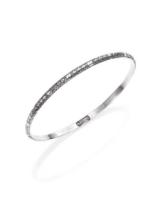 Konstantino - Metallic Classics Sterling Silver Etched Bangle Bracelet - Lyst