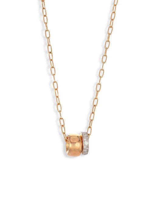 Pomellato - Metallic Iconica Diamond & 18k Rose Gold Necklace - Lyst