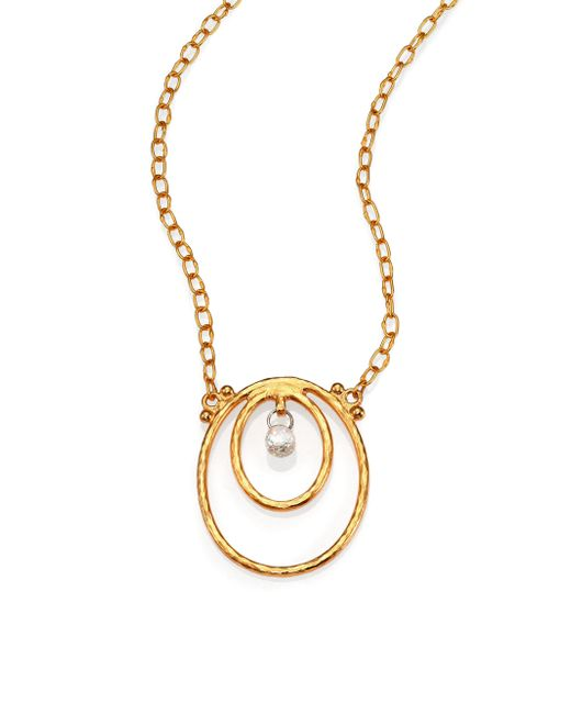 Gurhan - Metallic Hoopla Diamond & 24k Yellow Gold Pendant Necklace - Lyst