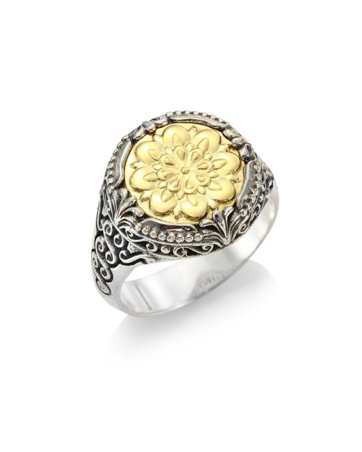 Konstantino | Metallic Gaia 18k Yellow Gold Ring | Lyst