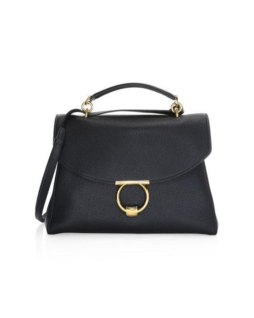 07599cddc68 Ferragamo Women s Medium Leather Box Messenger Bag - Black in Black ...