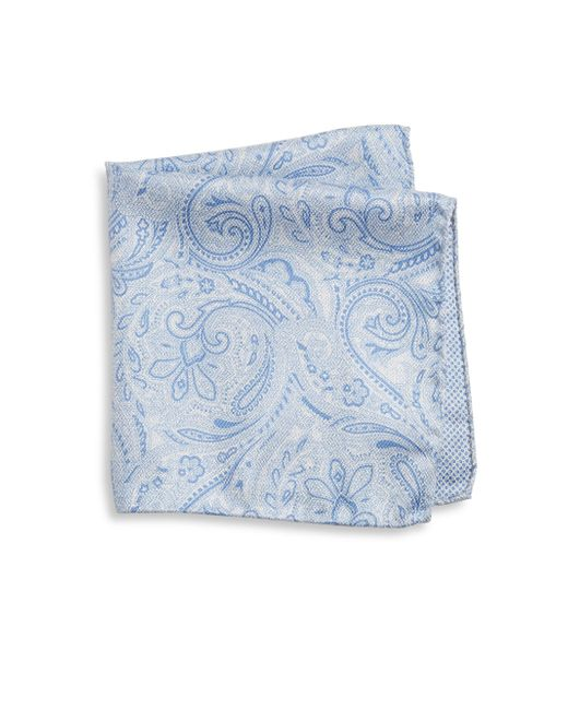 Saks Fifth Avenue   Blue Collection Paisley Print Silk Pocket Square for Men   Lyst