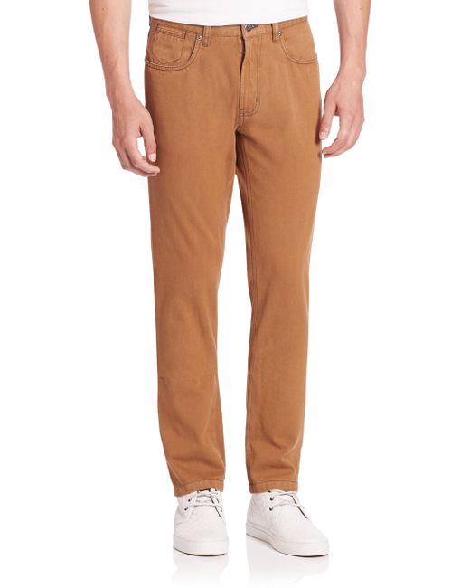 Saks Fifth Avenue | Brown Collection Sulfur Dyed Pima Cotton Pants for Men | Lyst