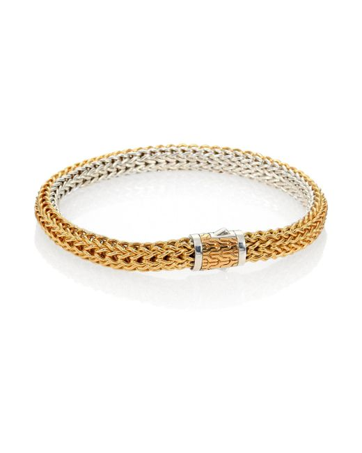 John Hardy - Metallic Classic Chain 18k Yellow Gold & Sterling Silver Small Reversible Bracelet - Lyst