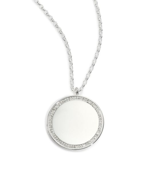 Astley Clarke | Metallic Cosmos Diamond & Sterling Silver Large Locket Necklace | Lyst