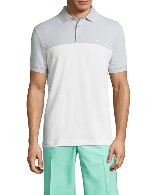 J.Lindeberg | Gray Johan Slim Tourque Polo for Men | Lyst