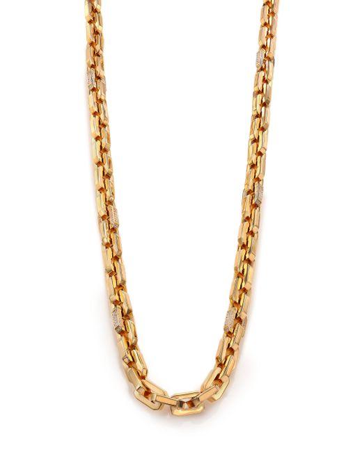 Eddie Borgo | Metallic Pave Crystal Small Supra Link Necklace | Lyst