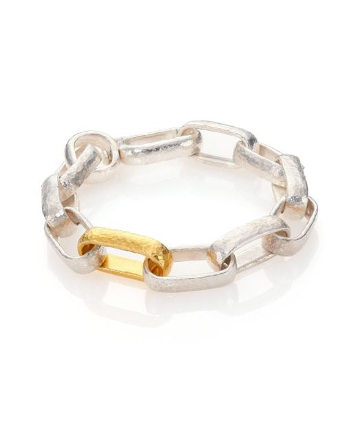 Gurhan - Metallic Women's Hoopla 24k Yellow Gold & Sterling Silver Geometric Link Bracelet - Silver/gold - Lyst