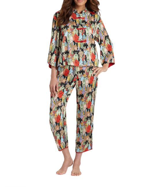 Natori - Black Dynasty Pajamas - Lyst