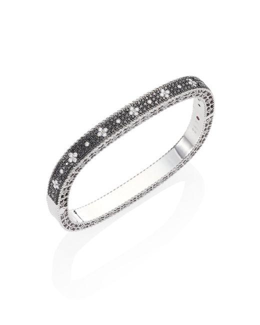 Roberto Coin - Metallic Princess Diamond 18k White Gold Bangle Bracelet - Lyst