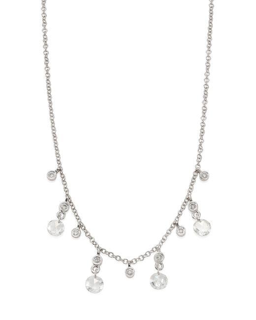 Meira T - Metallic Diamond & 14k White Gold Necklace - Lyst