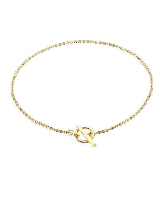 Eddie Borgo | Metallic O-ring Toggle Necklace | Lyst
