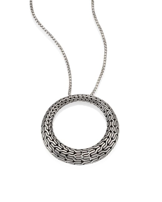 John Hardy - Metallic Classic Chain Sterling Silver Graduated Pendant Necklace - Lyst