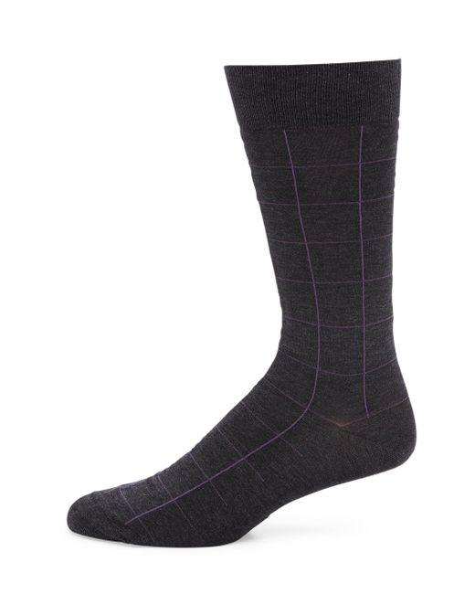 Pantherella - Gray Lambeth Motif Windowpane Socks for Men - Lyst