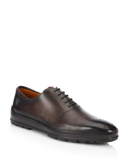 Bally - Brown Reddison Hybrid Leather Dress Shoes for Men - Lyst
