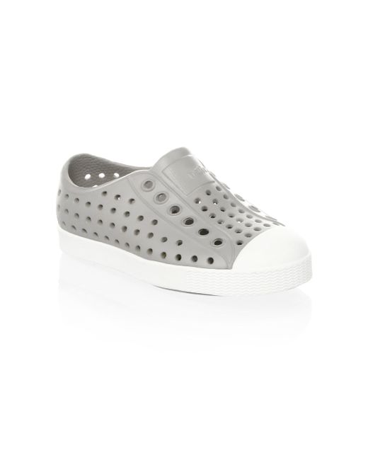 Native Shoes - Gray Kid's Jefferson Perforated Sneakers - Lyst