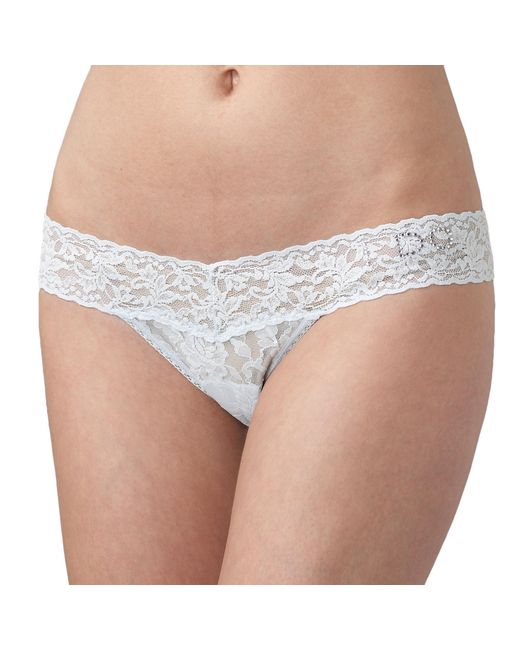 "Hanky Panky - Natural Bridal ""i Do"" Low Rise Thong - Lyst"