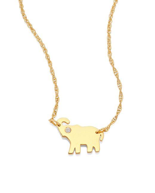 Jennifer Zeuner | Metallic Erin Elephant Diamond Pendant Necklace | Lyst