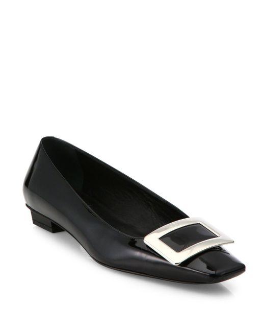 Roger Vivier   Black Belle Vivier Leather Mid-heel Pumps   Lyst