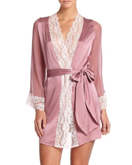 Myla - Purple Isabella Short Robe - Lyst