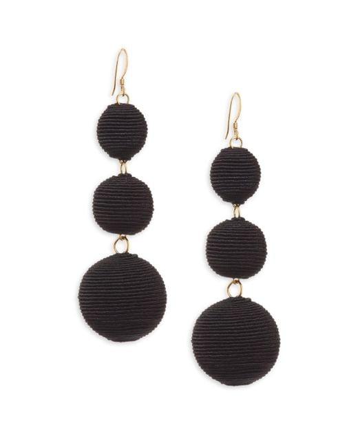 Kenneth Jay Lane | Carnival Triple Drop Earrings/black | Lyst