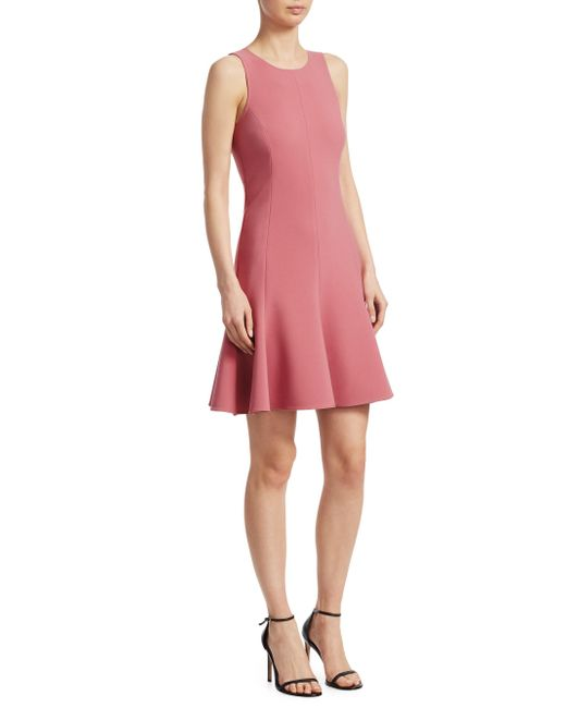 Elizabeth and James - Pink Seamed Fit-and-flare Dress - Lyst