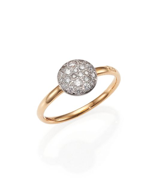 Pomellato - Metallic Sabbia Diamond & 18k Rose Gold Small Ring - Lyst