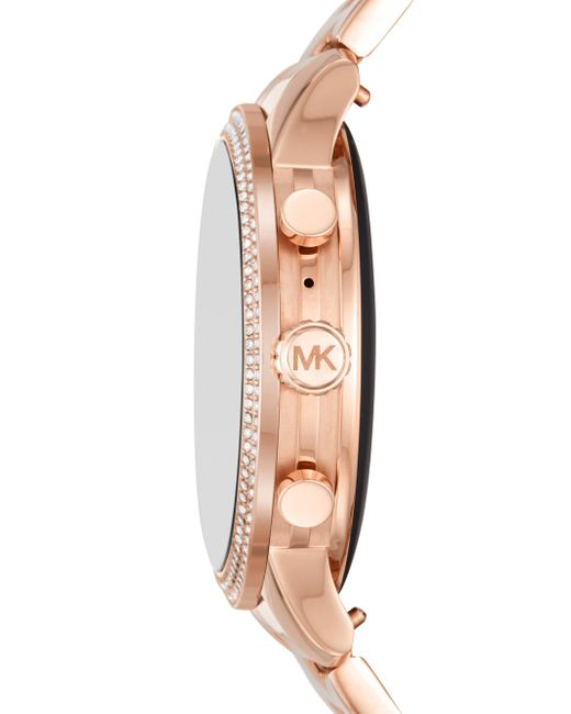 83ae3f94284b ... Michael Kors - Metallic Runway Stainless Steel Touchscreen Smart Watch  - Lyst ...