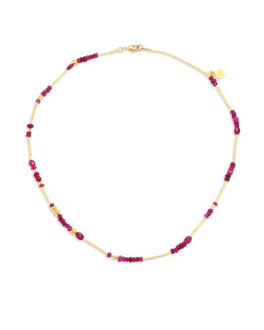 Gurhan - Metallic Delicate Rain Ruby & 24k Yellow Gold Beaded Necklace - Lyst