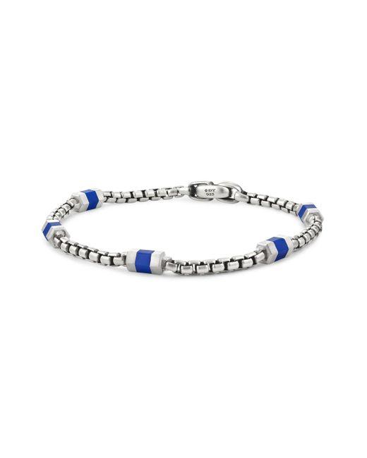 David Yurman | Metallic Hex Chain Sterling Silver Station Bracelet | Lyst