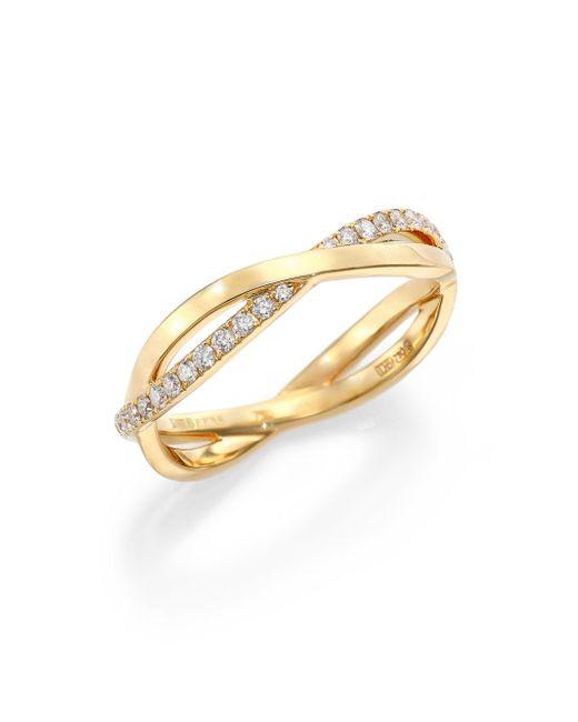 De Beers - Metallic Infinity Diamond & 18k Yellow Gold Half Band Ring - Lyst