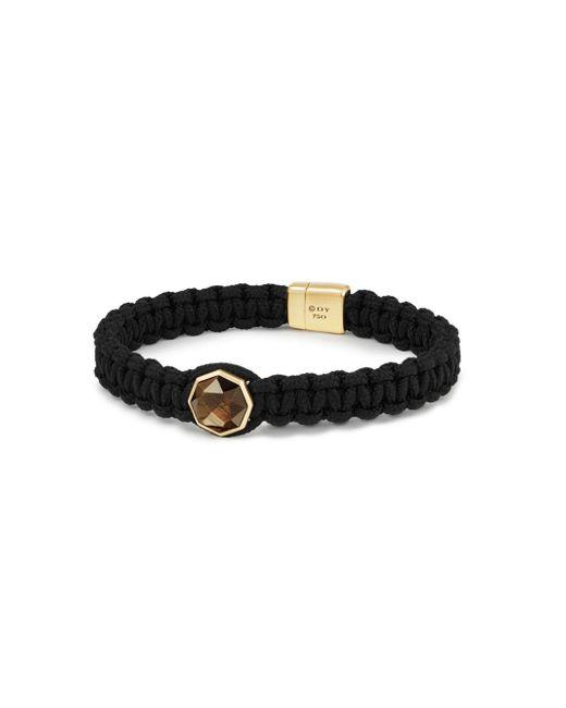 David Yurman | Black The Fortune Faceted Golden Sheen Sapphire & 18k Yellow Gold Woven Station Bracelet | Lyst