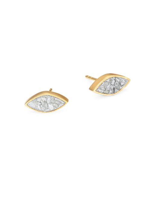 Shana Gulati - Metallic Banjara Nakiya Sliced Raw Diamond Stud Earrings - Lyst
