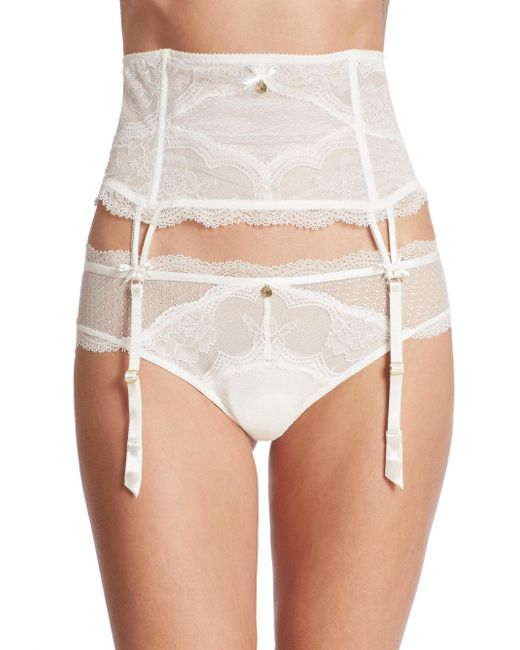 Chantelle - White Presage Lace Garter Belt - Lyst