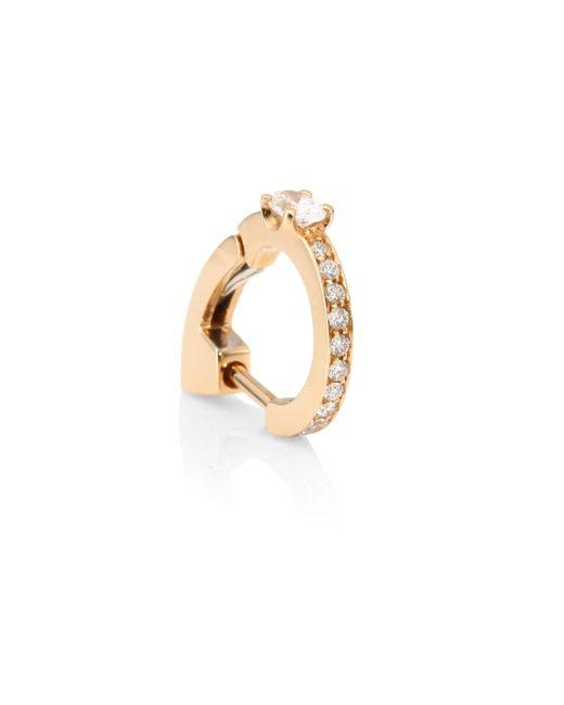 Repossi - Metallic Pave Diamond & 18k Rose Gold Hoop Earrings - Lyst