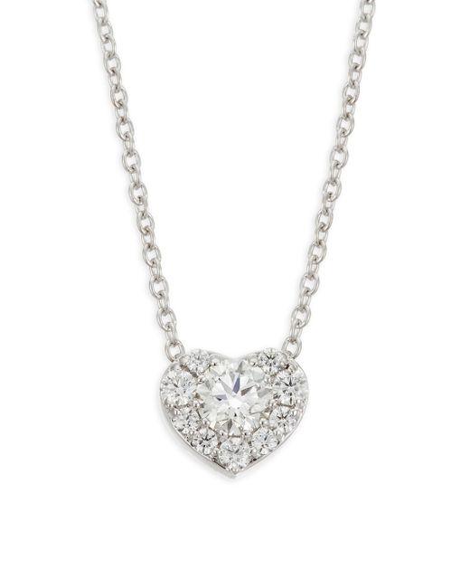 Hearts On Fire - Metallic Diamond & 18k White Gold Heart Pendant Necklace - Lyst