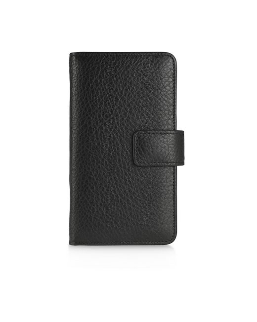 Graphic Image - Black Leather Iphone Wallet - Lyst