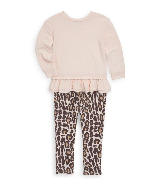 Splendid   Pink Little Girl's Top And Leopard-print Leggings Set   Lyst