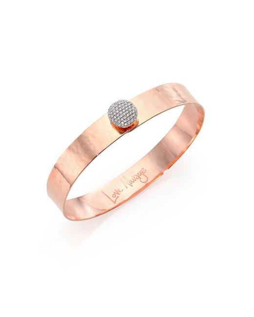 Phillips House - Pink Affair Infinity Love Always Diamond & 14k Rose Gold Bangle Bracelet - Lyst