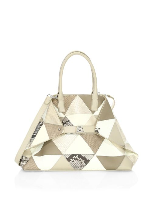 Akris - Multicolor Ai Small Patchwork Leather Tote - Lyst