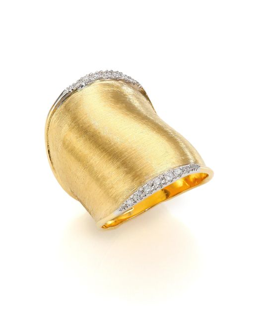Marco Bicego - Metallic Lunaria Diamond & 18k Yellow Gold Ring - Lyst