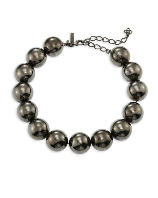 Oscar de la Renta | Metallic Bold Beaded Necklace | Lyst