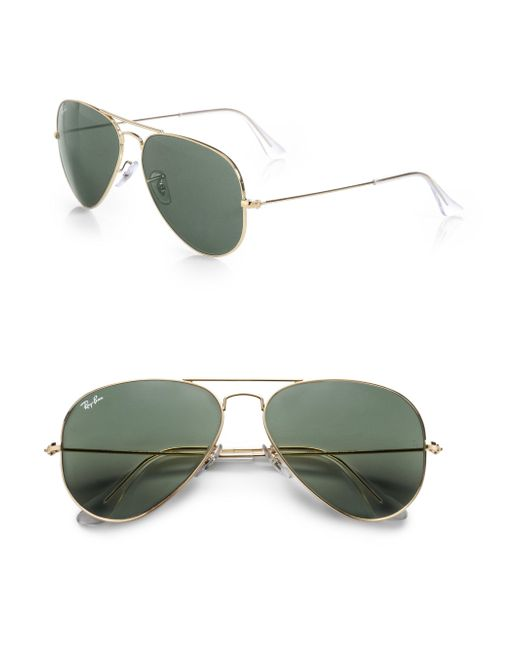 Ray-Ban - Metallic 58mm Original Aviator Sunglasses for Men - Lyst