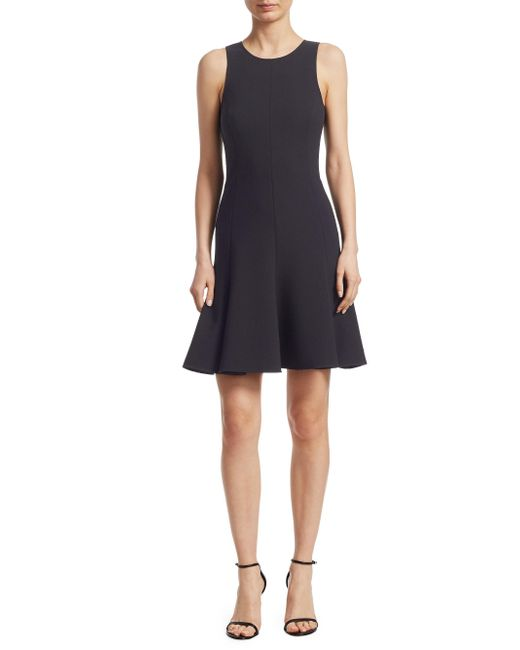 Elizabeth and James - Black Seamed Fit-and-flare Dress - Lyst