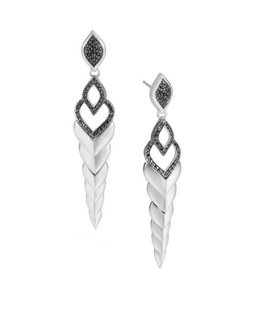 John Hardy - Legends Naga Black Sapphire & Spinel Stud Earrings - Lyst