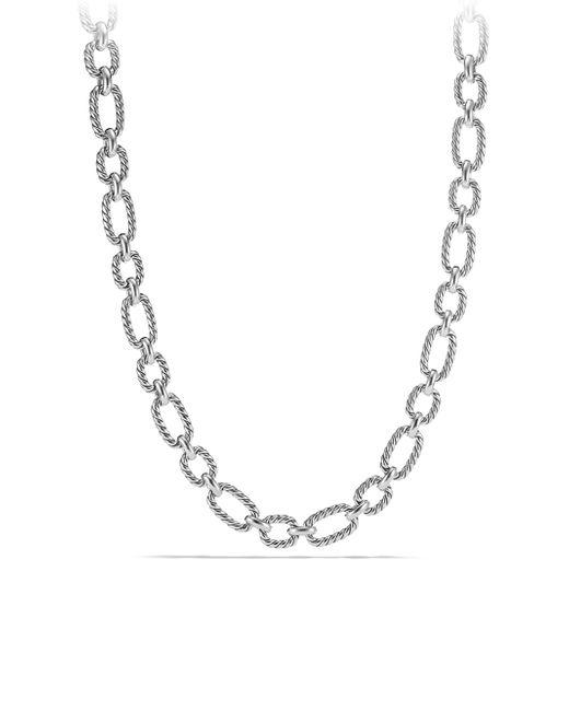 David Yurman - Metallic Cushion Link Chain Necklace - Lyst