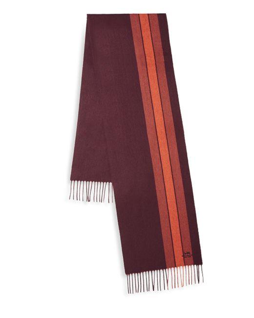 COACH | Red Varsity Stripe Scarf | Lyst