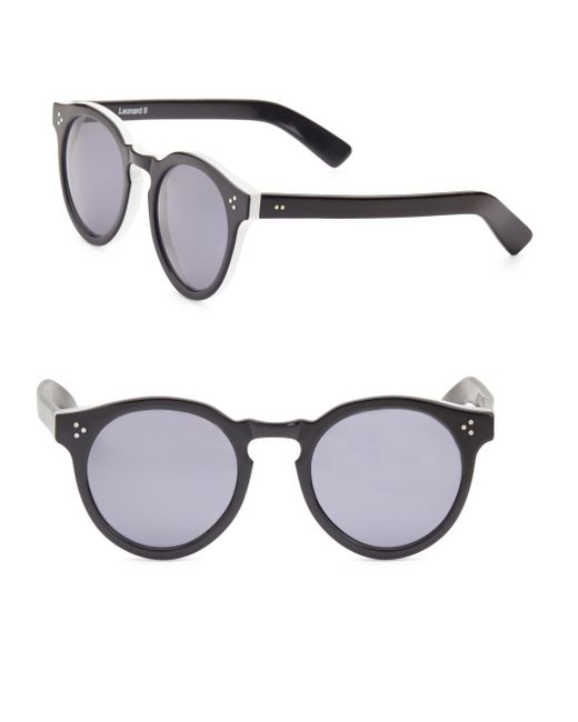 Illesteva - Black Leonard 53mm Round Sunglasses - Lyst
