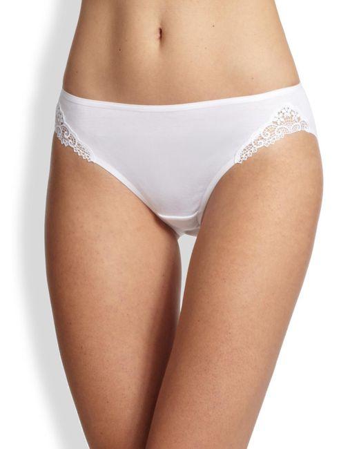 Hanro - White Delicate Lace High-cut Brief - Lyst