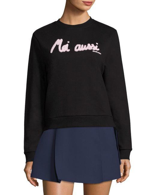 Carven | Black Moi Aussi Graphic Sweatshirt | Lyst